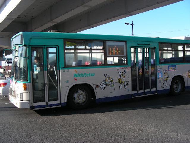 西鉄のラッピングバス2009: アビスパ福岡20090103dscn0191